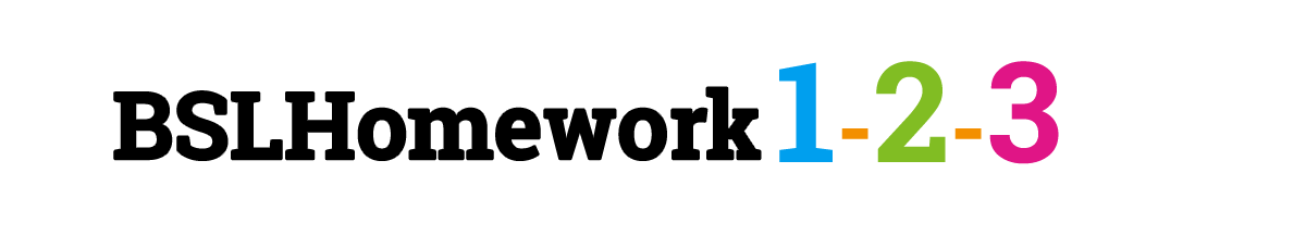 bsl homework signature